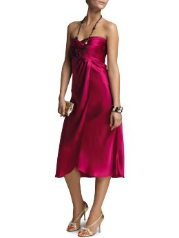 Banana Republic Satin Strapless Dress in Mulberry Lane