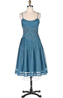 Anthropologie Blue Chalet Dress