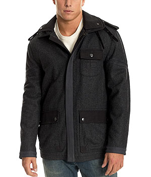 Armani Exchange Wool Military Coat