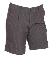 Pleated Pinstripe Bermuda Short