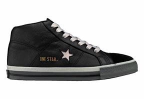 One Star® Mid Black/Charcoal Mens Mid