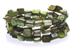 Jennifer Grove Green Mother of Pearl Cuff