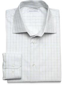 Windowpane-check Premium Dress Shirt